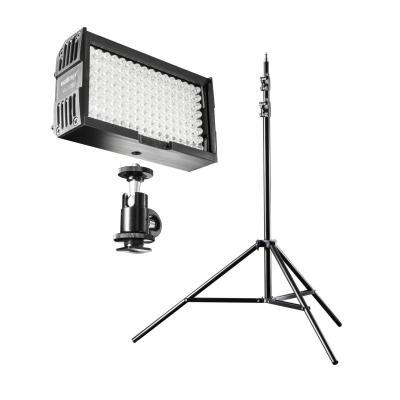Walimex photo studio equipment set: lightning set video set up 128, 180Lux, 5000K, FT-8051 Lamp Tripod, carrying bag, .....
