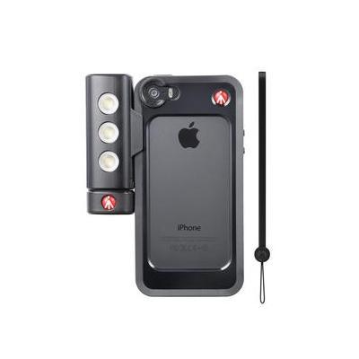 Manfrotto Black Bumper+ SMT LED Light with tripod mount Mobile phone case - Zwart