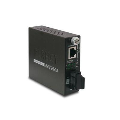 PLANET 10/100Base-TX to 100Base-FX (SC, MM) Smart-2km Media converter - Zwart