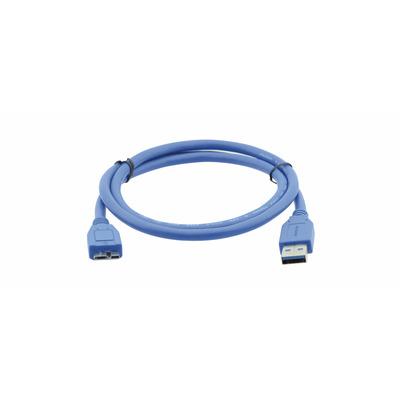 Kramer Electronics USB 3.0 A (male) to USB Micro–B (male), 0.9m USB kabel - Blauw