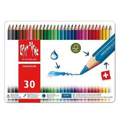 Caran d-ache potlood: Fancolor 30's - Multi kleuren, Rood, Wit