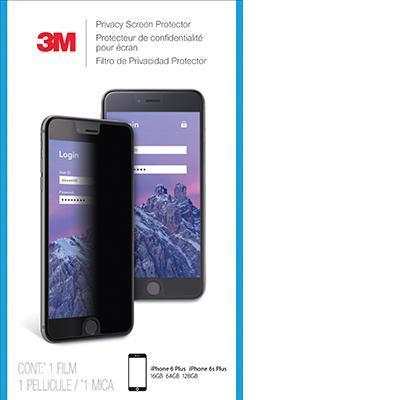 3m screen protector: Privacyscreenprotector voor Apple iPhone 6/6S/7 Plus staand - Zwart, Doorschijnend