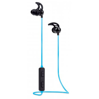 Manhattan Bluetooth Earphones with Microphone (promo), LED Cable Light (multi coloured), 5 hour usage time .....