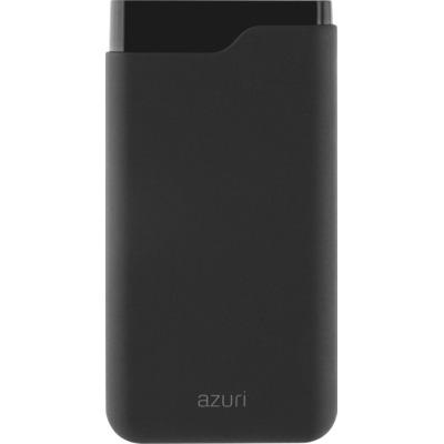Azuri with 1 USB-A , 1 USB-C port - 15000 mAh Powerbank - Zwart