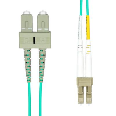 ProXtend LC-SC UPC OM3 Duplex MM Fiber Cable 0.5M Fiber optic kabel - Aqua-kleur