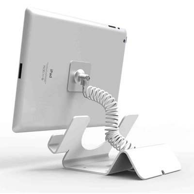 Compulocks Universal Tablet Holder with Keyed Cable Lock - White Houder