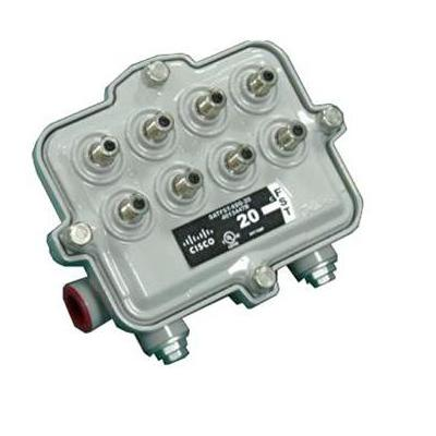 Cisco kabel splitter of combiner: Full Profile Flexible Solutions Tap, Faceplate, 1.25GHz, 8-way, 11dB - Zilver