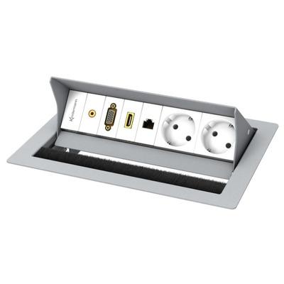 Kindermann CablePort standard² Inbouweenheid - Grijs, Wit