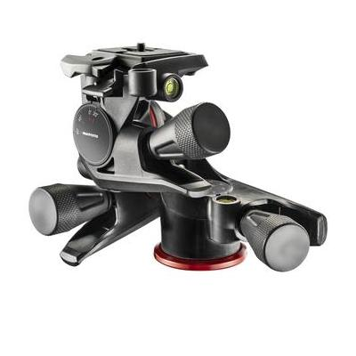 Manfrotto statiefkop: XPRO Geared 3 Way Head w/ Adapto Body - Zwart