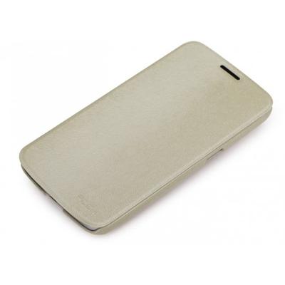 ROCK Big City Leather Side Flip Case Samsung Galaxy Mega 6.3 I9200, Cream Mobile phone case - Crème