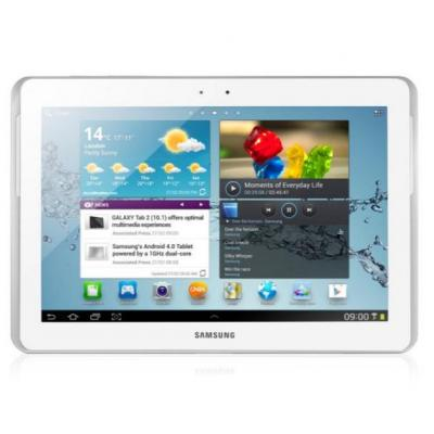 Micromobile : Display Glas/Touch Screen, white, Samsung Tablet Galaxy Tab 2 10.1 3G (GT-P5100) - Wit