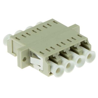 ACT LC quad, OM1/OM2, Beige Fiber optic adapter - Wit