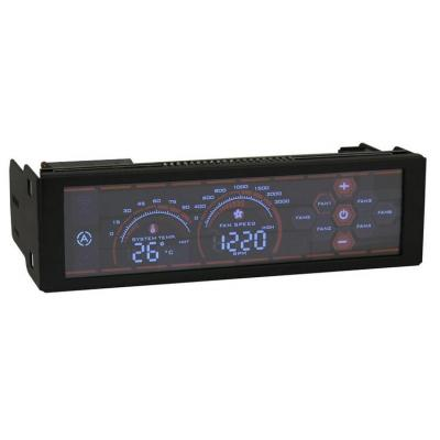 "Lc-power ventilator snelheidcontroller: 6 Fans up to, 6 Temperature sensors, 3 pin, LCD, 13.335 cm (5.25 "") , PWM - ....."