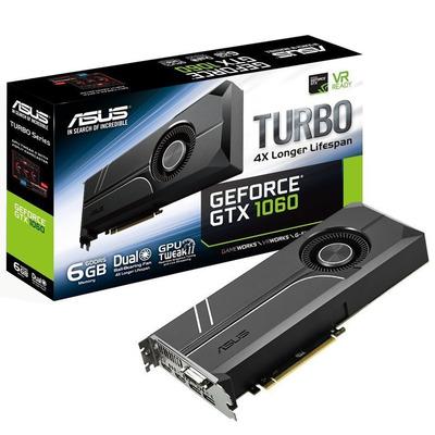 Asus videokaart: TURBO-GTX1060-6G - Zwart
