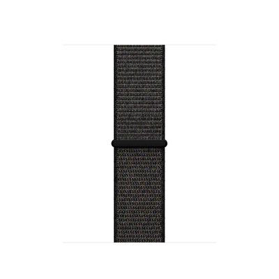 Apple : Geweven sportbandje - Zwart (38 mm)