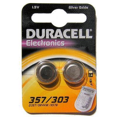 Duracell batterij: D357 - Zilver