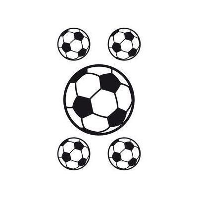 Herma sticker: Window decoration XL Soccerballs - Zwart, Wit