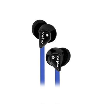 Veho Z1 Headset - Zwart, Blauw