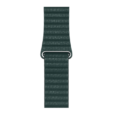 Apple : Leren bandje - Bosgroen (44 mm) - Medium