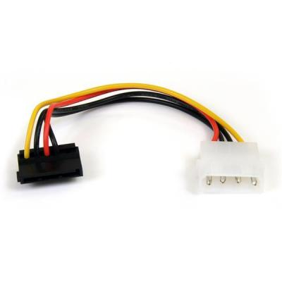 Startech.com electriciteitssnoer: 6in 4 Pin Molex to Right Angle SATA Power Cable Adapter