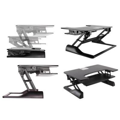 Newstar : Sit-Stand Desktop Workstation - Black - Zwart