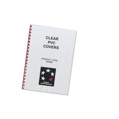 5star binding cover: (A4) Comb Binding Covers PVC 200 micron (Clear), Pack of 100 - Transparant