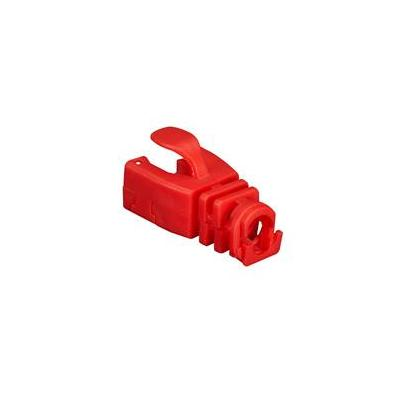 Black Box Snap-On Patch Cable Boot, Red, 50-Pack Kabelbeschermer - Rood