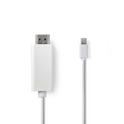 Nedis Mini-DisplayPort - HDMI™-Kabel, Mini-DisplayPort Male - HDMI™-Connector, 2,0 m, Wit