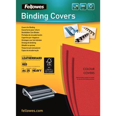 Fellowes Dekbladen leatherlook FSC Binding cover - Rood