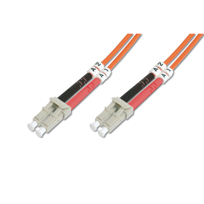Digitus LC OM2, 2m Fiber optic kabel - Oranje