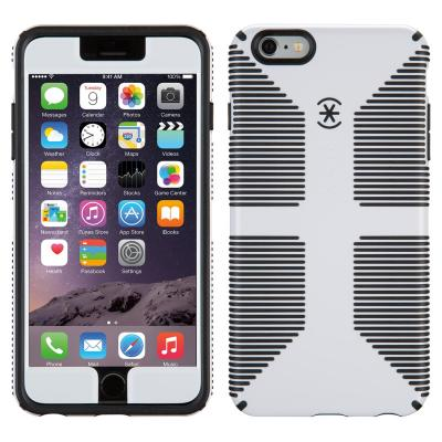 Speck apparatuurtas: CandyShell Grip + Faceplate - Hoesje - iPhone 6 / 6s Plus (White / Black )