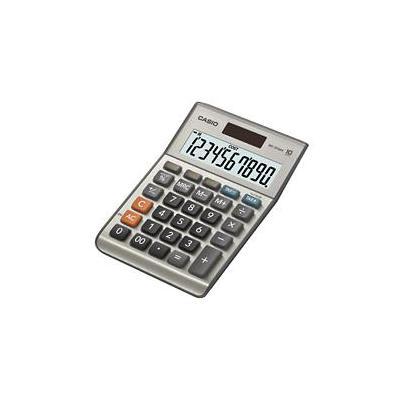 Casio calculator: MS-100BM, 10-cijferig - Zilver