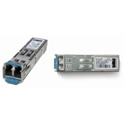 Cisco netwerk tranceiver module: 1000BASE-ZX SFP Transceiver Module for SMF, 1550nm, DOM Support, Spare - Zilver