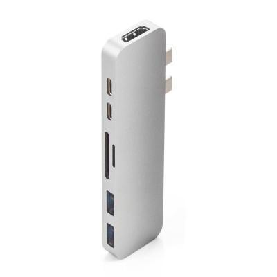 HYPER hub: HyperDrive DUO USB-C HUB Silver - Zilver