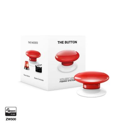 Fibaro : The Button - Rood, Wit