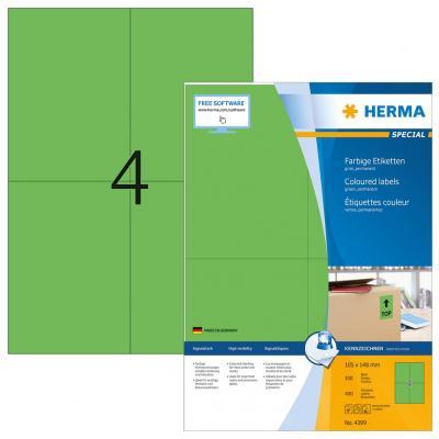 Herma etiket: Etiketten groen 105x148 A4 400 st.