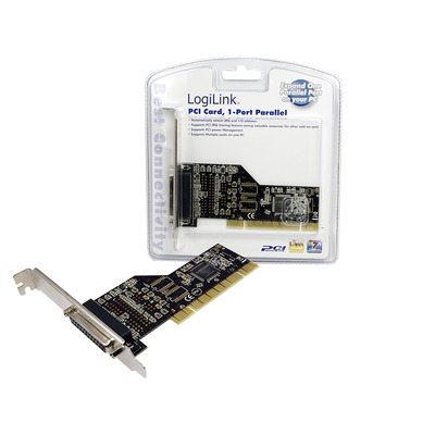 LogiLink PCI Parallel Card Interfaceadapter - Groen