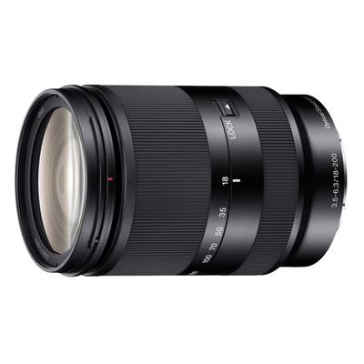 Sony camera lens: E18-200mm F3.5-5.6 - Zwart