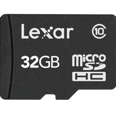 Lexar flashgeheugen: 32GB microSDHC - Zwart