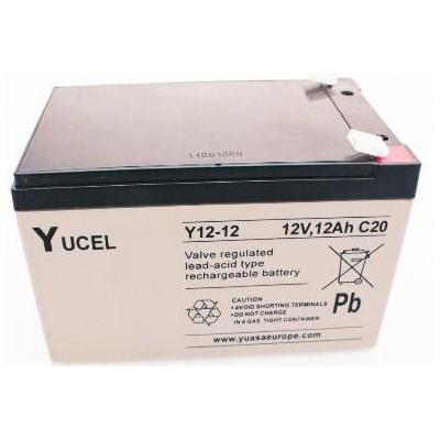 Yuasa UPS batterij: 12V, 12Ah, Lead Acid, 4kg, White/Black - Zwart, Wit