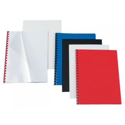 Staples binding cover: Schutblad SPLS A4 kart 250g zwart/pk 100