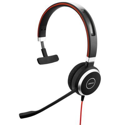 Jabra headset: Evolve 40 UC Mono - Zwart