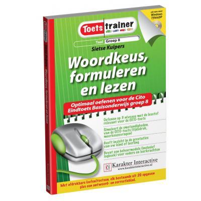Karakter educatieve software: Toetstrainer Taal, Woordkeus, Formuleren en Lezen (Groep 8)