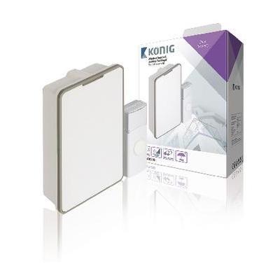 König deurbel: Draadloze Deurbel Set Batterijgevoed 80 dB Wit/Grijs - Grijs, Wit