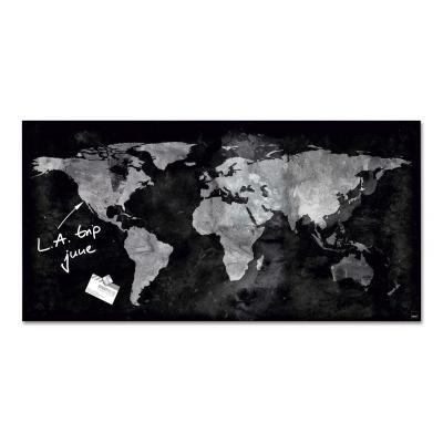 Sigel magnetisch bord: GL270 - Zwart, Grijs