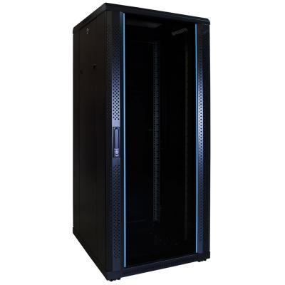DS-IT 27U serverkast met glazen deur 600x600x1400mm (BxDxH) Stellingen/racks