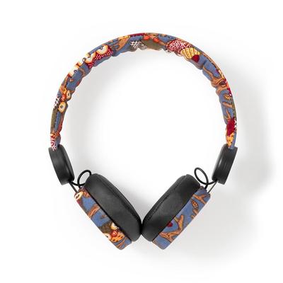 Nedis Bedrade Koptelefoon, 1,2 m Ronde Kabel, On-Ear, Uil, Zwart Headset