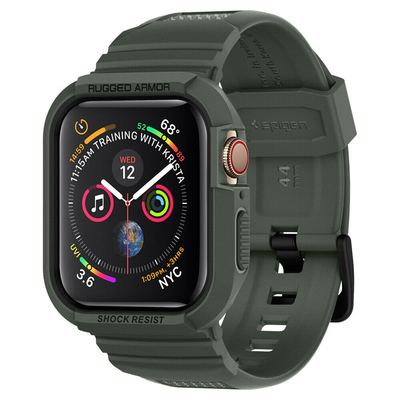 Spigen Apple Watch Series 4 (44mm) Case Rugged Armor Pro - Groen