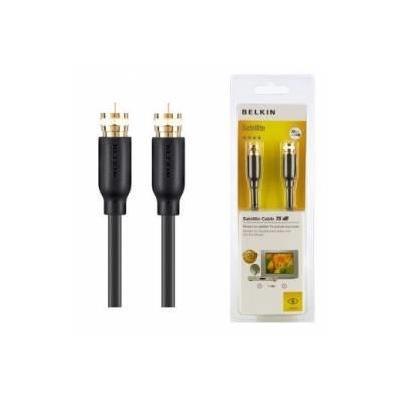 Belkin coax kabel: Cable Satellite, F Type M/M, 1m, Black - Zwart