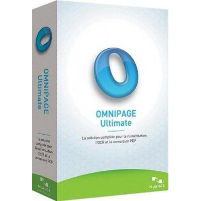Nuance OCR software: OmniPage Ultimate, EDU